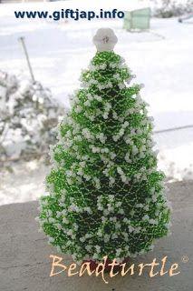 Beaded Christmas Tree | Christmas tree, Beads and Tutorials