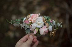 kwiatowy grzebień do włosów, grzebień ślubny - magaela - Grzebyki do włosów 140 zl
