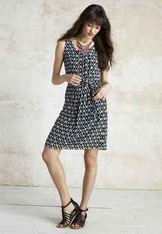 Black and white chiffon diamond print dress - maurices.com