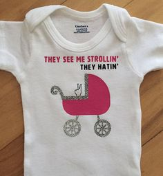 They See Me Strollin' One-piece by TheCheekyB on Etsy