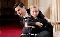 """""""And off we go!"""" ... Downton Abbey's Thomas and George, Season 6 .."""