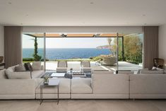 """""""The Cap Adriano experience"""" by Minotti Interior Exterior, Home Interior Design, Villas, Living Area, Living Spaces, Living Rooms, Visual Aesthetics, Level Homes, Outdoor Furniture Sets"""