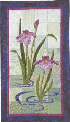 Purple Iris Quilt by Ann Fahl from Ann Fahls Color and Quilts