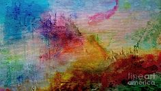 Digital Sunrise Abstract Watercolor Painting 1a Painting