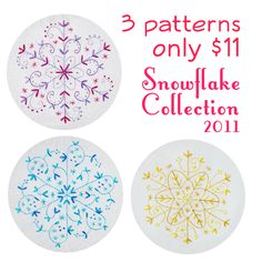 2011 Snowflake Collection Embroidery Patterns