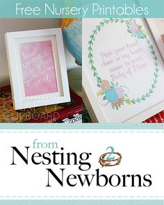Nesting to Newborns Free Nursery Printables by the Crafty Cupboard