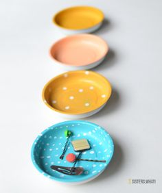 DIY Painted Magnetic Bowls