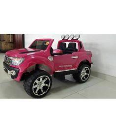 Oferta Coche eléctrico niñas 12v mando Ford Ranger rosa