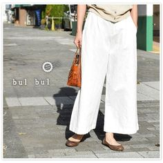 【bul bul バルバル】(サンバレー sun valley) コットン リネン チノ ワッシャー ソフトバギー パンツ (be2004188)レディース ファッション 春夏 春コーデ