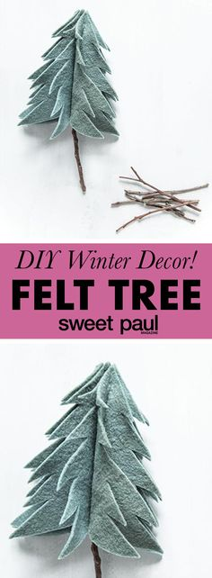 This simple felt pine tree is so adorable!
