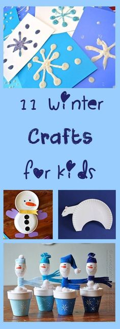 How cute are these 11 Winter Crafts for kids. These snowmen are adorable and so fun and easy to make!