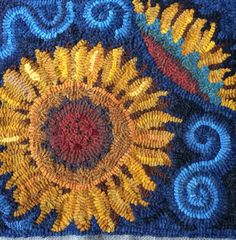 Sunflower makes a Mat 15x15, this is an ideal size for turning into an accent pillow, or using as a wall hanging or table mat. Its hand drawn on