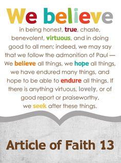 13 Articles Of Faith On Pinterest Faith And Jesus Christ