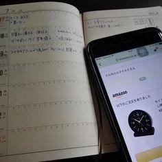 昨日イラッとしたことを「日記のもくじ」の本文に2つ打ち込みましたw  おはようございます  目覚まし時計をAmazonで注文しました  今回お洒落さはありません(笑)  確実に鳴ってくれたらいい…ただそれだけです  #手帳 #手帳ゆる友 #能率手帳 #能率手帳ゴールド #iphone7plus