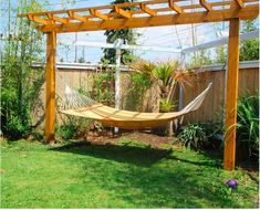 maybe next summer...build a pergola hammock stand for garden