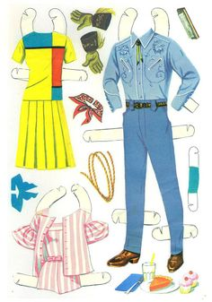 Barbie and Ken cut outs 196 - Bobe Green - Picasa Webalbum* 1500 free paper dolls international artist Arielle Gabriel's The Internatonal Paper Doll Society for paper doll pals at Pinterest *