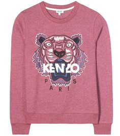Kenzo - Embroidered cotton sweater - Kenzo always makes a bold impact with a signature tiger head, and we just can't get enough of this brand-new colourway. The cult label's name sits proudly in eggshell white, whilst the raspberry background is decorated with multicoloured embroidery. Add some feline attitude to your looks with this fearless piece. - @ www.mytheresa.com