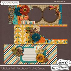 Fabulous Fall - Facebook Timeline Covers :: Gotta Pixel Digital Scrapbook Store From Designs by Connie Prince