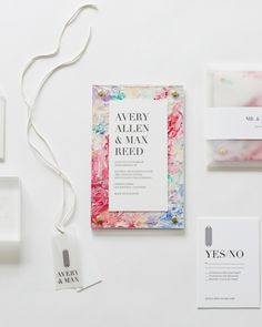 """Couples aren't sticking to paper wedding invitations. """"Other mediums are being used—wood, slate, marble, leather, and acrylic—which can accept many of the traditional stationery flourishes,"""" explains Kate Siegel, owner of Kate Siegel Events."""