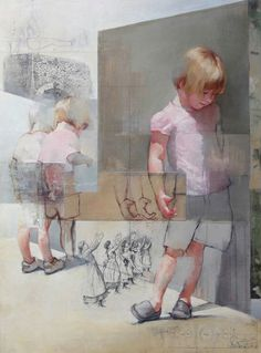 Chris Gwaltney at Seager Gray Gallery showing New York Sidewalk Puddles from London an abstract painting with strong_ daring use of color. Figure Painting, Figure Drawing, Painting & Drawing, Wow Art, Portrait Art, Portraits, Art Plastique, Figurative Art, Painting Inspiration