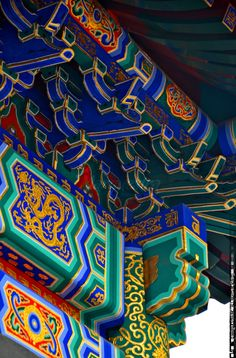 Lama Temple, Beijing, China - #colorful  Crazy detailing