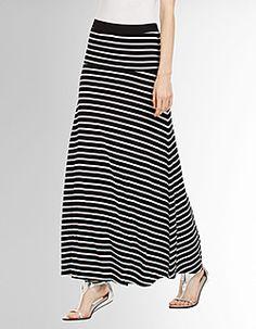 Karolin Striped Skirt-BCBGMAXAZIRIA