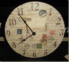 DIY clock for craft room