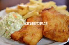 Haultain Fish & Chips Victoria, BC - yes, more fish and chips! Fish And Chips, Yummy Snacks, Restaurants, Tasty, Victoria, Desserts, Food, Tailgate Desserts, Deserts