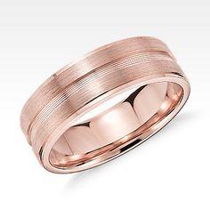 Double Cut Comfort Fit Wedding Ring In Palladium 6mm