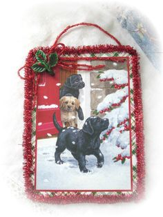Shabby Sweet Repurposed Christmas Card 3 by RoseChicFriends, $3.99