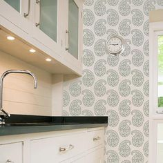 Love this idea... maybe someday!  Wall Stencils | Indian Paisley Damask Stencils | Royal Design Studio