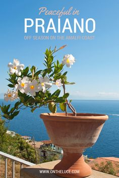 Peaceful in Praiano. Love it! #Praiano is our FAVORITE home base on the Amalfi Coast. Fewer tourists and an authentic vibe.