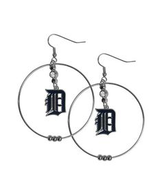 Detroit Tigers Hoop Earrings #zulily #zulilyfinds