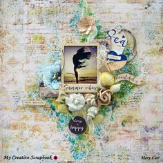 Mary's Crafty Moments: ''Summer Vibes'' - A GD Layout for My Creative Scrapbook with VIDEO TUTORIAL