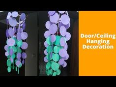 How To Make Door/Ceiling Hanging Decoration    DIY Hanging Craft Ideas using colour paper - YouTube