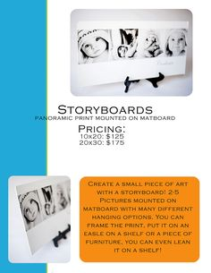 storyboards on matboard