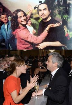 Alfonso Cuarón and Emma Watson 10 years later. Harry Potter Disney, Harry Potter Tumblr, Harry Potter Actors, Harry Potter Films, Harry Potter Pictures, Harry Potter Aesthetic, Harry Potter Love, Harry Potter Universal, Selena