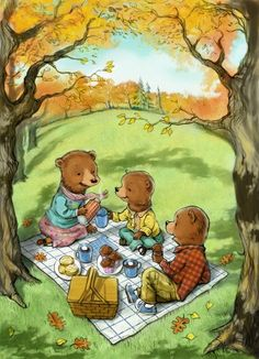 Teddy Bears Picnic by Karen Lee I could set the trunk up as a teddy bears picnic
