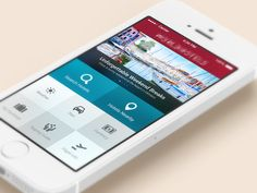 Hotels - iOS 7 #map #search #product