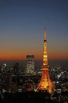 Tokyo Tower and Roppongi Hills Kawai Japan, Tokyo Skyline, Japan Summer, Japan Architecture, Tokyo Night, Japan Painting, Tokyo Tower, Japan Photo, Night City