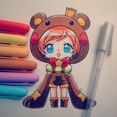 "Este OC pertenece a mi amiga @minuroyal es un regalin por que hace poco tuvo a su Bebe ;w; Muchas felicidades otra vez nee! ""PAINTED WHIT PENCIL BIC MARKING AND WHITE GEL PEN PILOT"" ;3 #originalcharacter #oso #kuma #chibi #kawaii #traditional #stars #instadraw #instaanime #corona"
