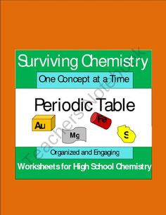 Periodic Table - Organized and Engaging Worksheets for High School Chemistry product from E3Chemistry on TeachersNotebook.com