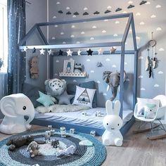 Un pequeño reino en azul  #habitación #bebe #infantíl #dormitorio #rosaoazul