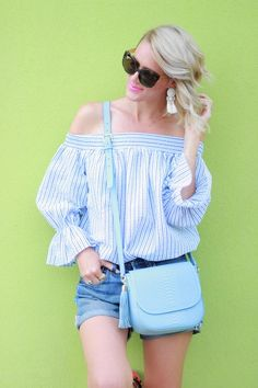 b52fe4b64d3 Belle de Couture: Off-the-Shoulder Bow Top #giginewyork #chicwish Bow