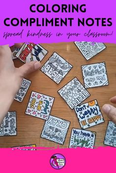 Use coloring compliment notes for lifting the spirits in your classroom and spreading kindness! They can be used like reward coupons to offer students for good behavior. They can then enjoy coloring the notes in and keeping them as confidence boosters. They can be scattered and placed in students' desks, on their lockers, inside library books. Set up a Kindness Club and send your members on a mission to color in these notes then spread compliments and joy to others around school! #kindnessclub Free Teaching Resources, Help Teaching, Teacher Resources, Teaching Character, Character Education, Social Emotional Learning, Social Skills, Growth Mindset Display, Mindfulness Colouring