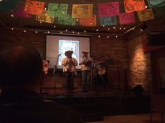 Musical performance at the launch of Alec Dempster's Lotería Huasteca. Gladstone Hotel, November 2, 2015. Photo by Miles Dempster.
