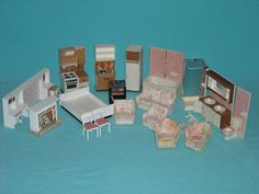 Vintage Lundby Dollhouse Furniture Lot of 19 Pieces Assorted Furniture Lot   eBay