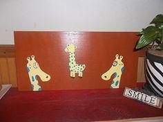 Giraffe LARGE Kids Nursery Wood Wall Art Hand Painted Kids Bedroom Decor-12x24 Inches Smart Up http://www.amazon.com/dp/B00P9Q1N5G/ref=cm_sw_r_pi_dp_f0Nwub10SV7C8