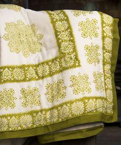 Luxury Quilt Sets - Sage Green Quilt - Hand Block Printed from Attiser