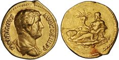 Hadrian ad 117-138, gold aureus, Rome mint ad 136, from the famous 'travel series' documenting Emperor Hadrian's visit to Egypt.